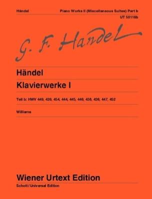 Oeuvre Complète Pour Piano Volume 1b HAENDEL Partition laflutedepan