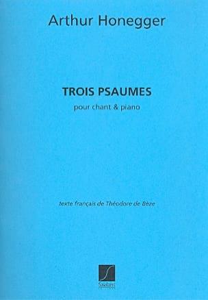 3 Psaumes HONEGGER Partition Mélodies - laflutedepan