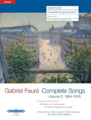 Complete Songs Volume 2 Voix Moyenne FAURÉ Partition laflutedepan