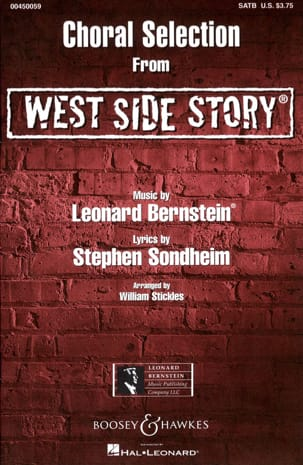 West Side Story Choral Sélection BERNSTEIN Partition laflutedepan