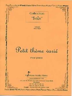 Petit Thème Varié Gérard Meunier Partition Piano - laflutedepan
