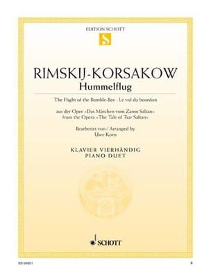 Le Vol Du Bourdon. 4 Mains RIMSKY-KORSAKOV Partition laflutedepan