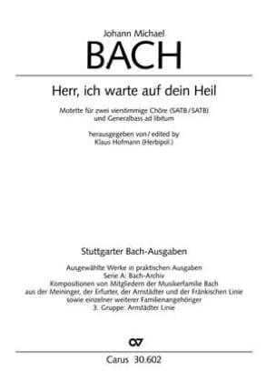 Herr, ich warte auf dein Heil - Johann Michael Bach - laflutedepan.com