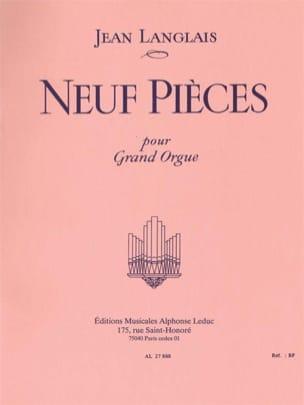 9 Pièces Jean Langlais Partition Orgue - laflutedepan