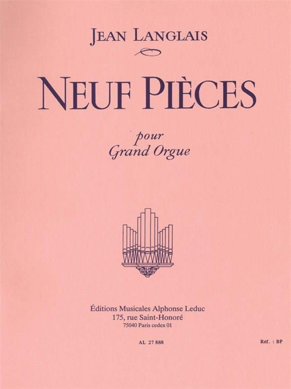 9 Pièces - Jean Langlais - Partition - Orgue - laflutedepan.com