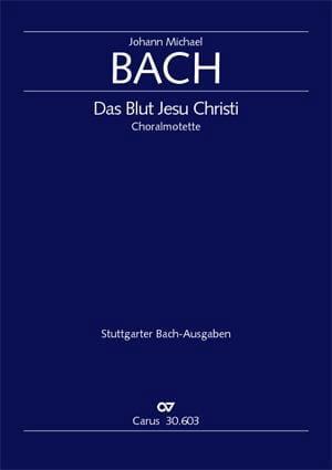 Das Blut Jesu Christi - Johann Michael Bach - laflutedepan.com