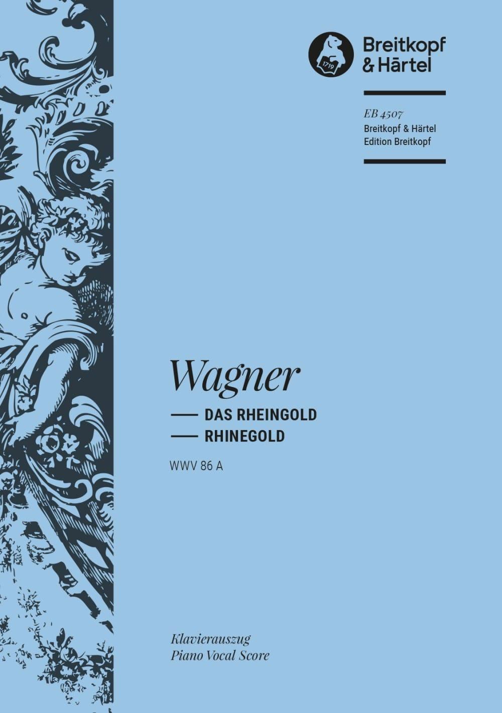 Das Rheingold Wwv 86a - WAGNER - Partition - Opéras - laflutedepan.com