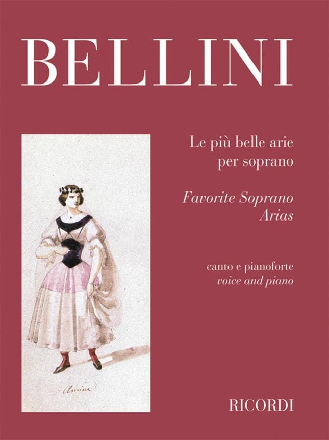 Le Piu Belle Arie Per Soprano - BELLINI - Partition - laflutedepan.com
