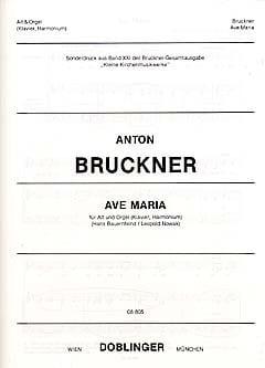 Ave Maria BRUCKNER Partition Musique de chambre vocale - laflutedepan