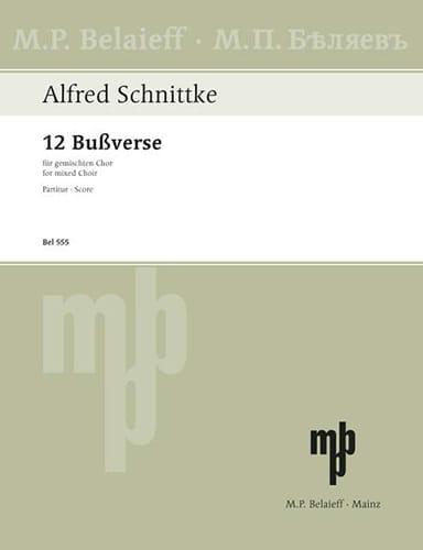 12 Bussverse - SCHNITTKE - Partition - Chœur - laflutedepan.com