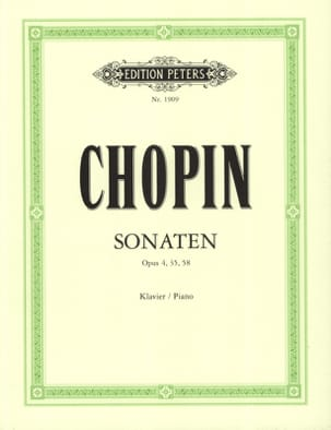 3 Sonates CHOPIN Partition Piano - laflutedepan