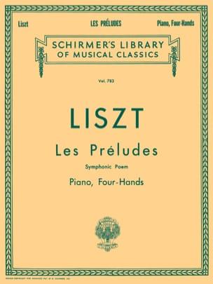 Les Préludes. 4 Mains LISZT Partition Piano - laflutedepan
