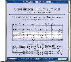 Grande Messe En Ut Mineur K 427. CD Ténor. MOZART laflutedepan