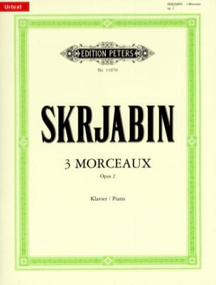 3 Morceaux Opus 2 SCRIABINE Partition Piano - laflutedepan
