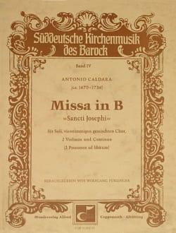 Missa In B Sancti Josephi. Conducteur CALDARA Partition laflutedepan