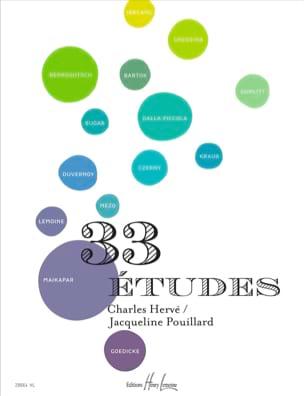 33 Etudes HERVÉ - POUILLARD Partition Piano - laflutedepan