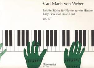 6 Pièces Faciles Opus 10. 4 Mains Carl Maria von Weber laflutedepan