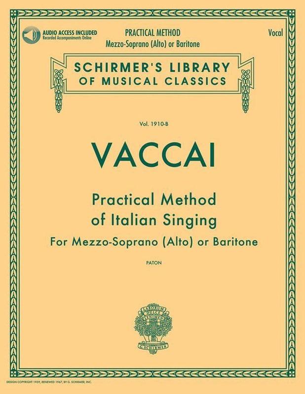 Practical Method of Italian Singing. Voix moyenne - laflutedepan.com