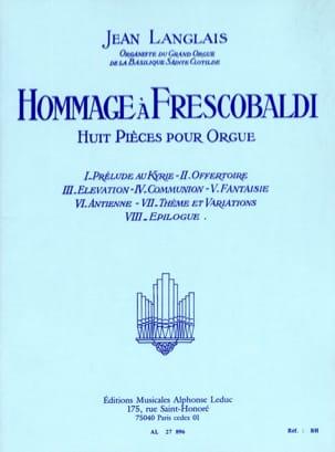 Hommage à Frescobaldi Jean Langlais Partition Orgue - laflutedepan