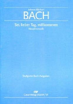 Sei, lieber Tag, willkommen Johann Michael Bach Partition laflutedepan