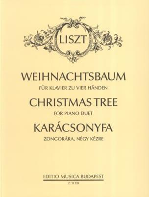 Weihnachtsbaum. 4 Mains LISZT Partition Piano - laflutedepan