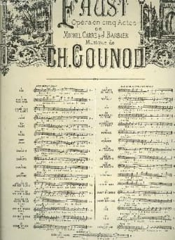 Charles Gounod - Hi Residence Chaste and Pure. Faust - Partition - di-arezzo.co.uk