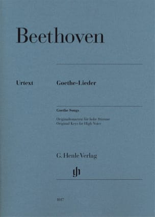 Goethe-Lieder BEETHOVEN Partition Mélodies - laflutedepan