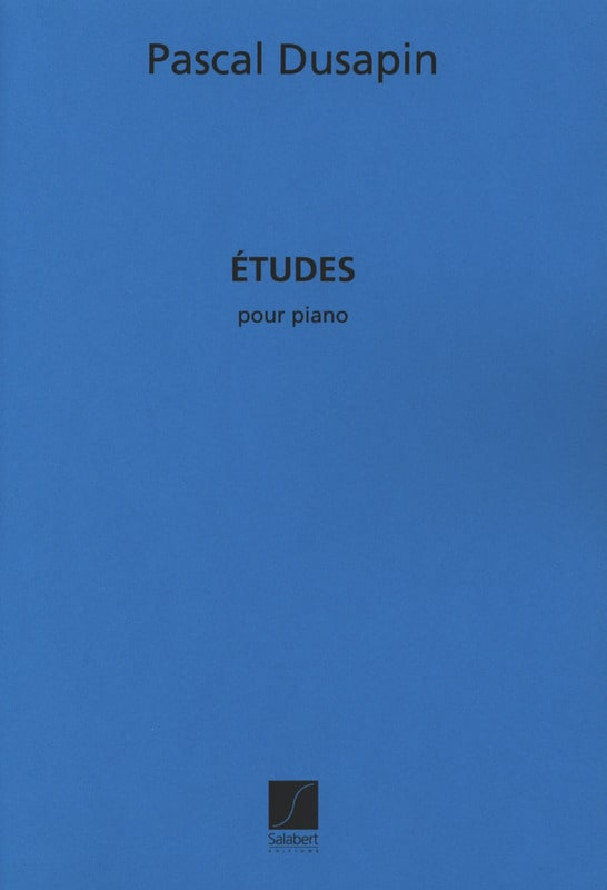 7 Etudes - Pascal Dusapin - Partition - Piano - laflutedepan.com