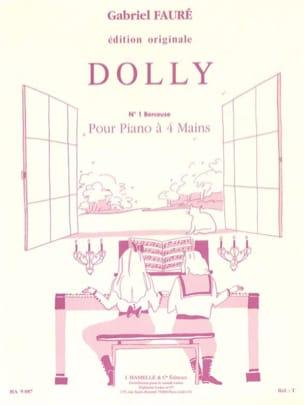 Berceuse, N°1 de Dolly Opus 56. 4 Mains FAURÉ Partition laflutedepan