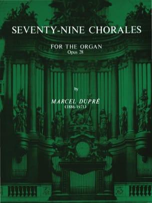 79 Chorals Opus 28 DUPRÉ Partition Orgue - laflutedepan