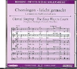 Petite Messe Solennelle. CD Alto ROSSINI Partition laflutedepan