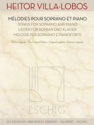 Oeuvres pour Soprano et Piano VILLA-LOBOS Partition laflutedepan