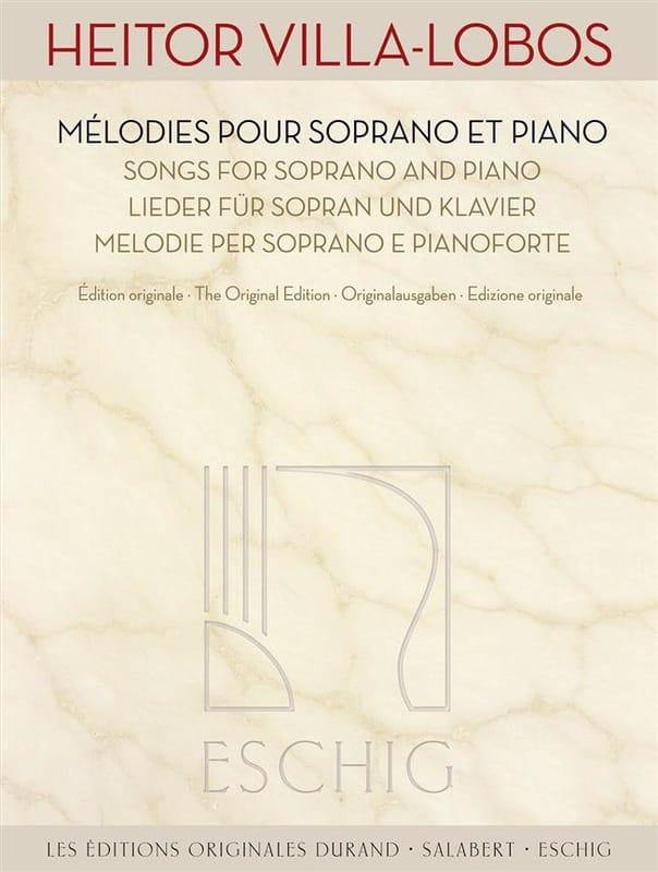 Oeuvres pour Soprano et Piano - VILLA-LOBOS - laflutedepan.com