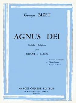 Agnus Dei. Voix Moyenne BIZET Partition Mélodies - laflutedepan