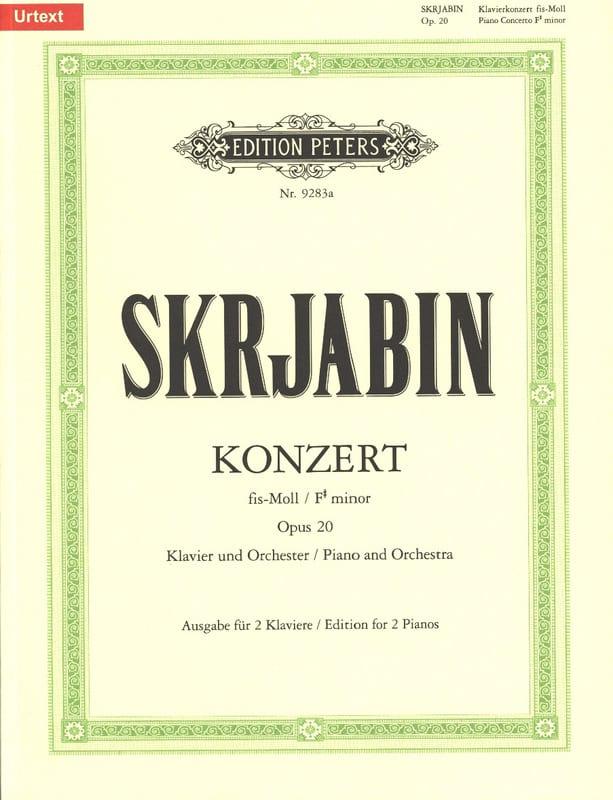 Concerto pour piano en fa dièse mineur Opus 20. - laflutedepan.com
