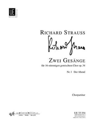 2 Gesänge op 34-1. Der Abend Richard Strauss Partition laflutedepan