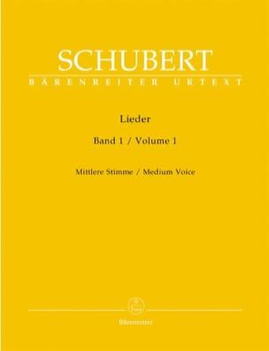 Lieder Volume 1. Voix Moyenne - SCHUBERT - laflutedepan.com