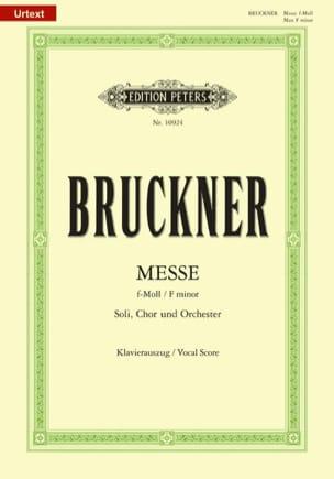 Messe Fa Mineur BRUCKNER Partition Chœur - laflutedepan