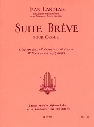 Suite Brève Jean Langlais Partition Orgue - laflutedepan