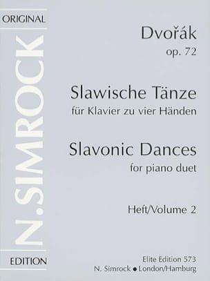 DVORAK - Slaves Dances Opus 72 Volume 2. 4 hands - Partition - di-arezzo.co.uk