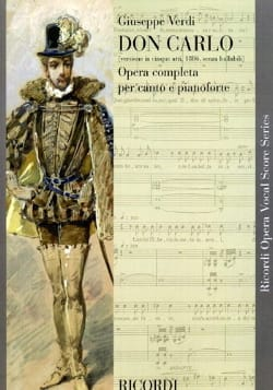 Don Carlo Version En 5 Actes VERDI Partition Opéras - laflutedepan