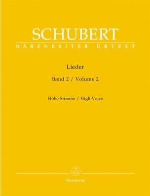 Lieder Volume 2. Voix Haute SCHUBERT Partition Mélodies - laflutedepan