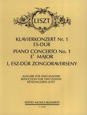 Concerto N°1 En Mi Bémol Majeur LISZT Partition Piano - laflutedepan
