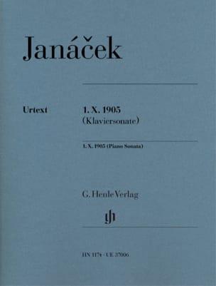 Sonate 1 X 1905 JANACEK Partition Piano - laflutedepan