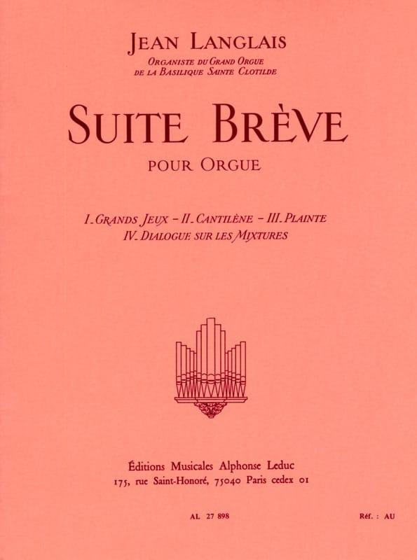Suite Brève - Jean Langlais - Partition - Orgue - laflutedepan.com