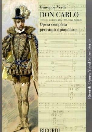 Don Carlo Version En 5 Actes - VERDI - Partition - laflutedepan.com