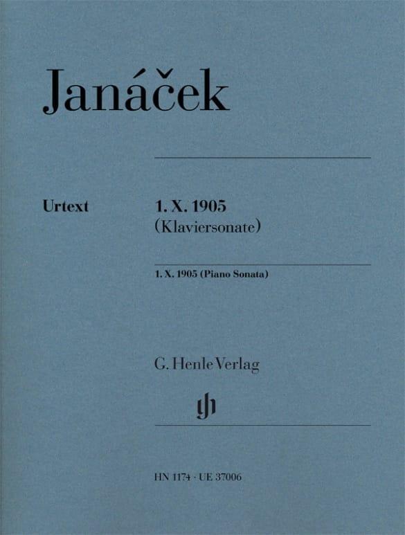 Sonate 1 X 1905 - JANACEK - Partition - Piano - laflutedepan.com