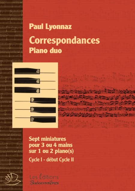 Correspondances - Piano Duo - Paul Lyonnaz - laflutedepan.com