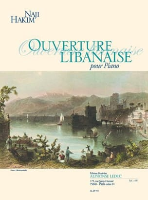 Ouverture Libanaise. Piano Naji Hakim Partition Piano - laflutedepan