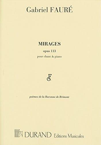 Mirages - FAURÉ - Partition - Mélodies - laflutedepan.com